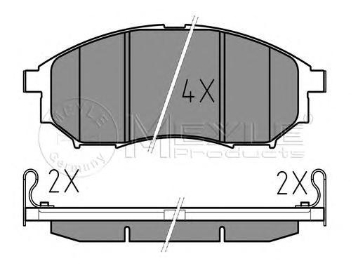 Колодки тормозные дисковые Meyle, комплект. 0252369816/W0252369816/W