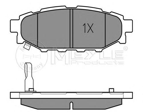 Колодки тормозные дисковые Meyle, комплект. 0252427114/W0252427114/W