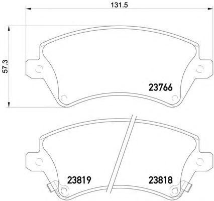 Колодки тормозные дисковые BEHR-HELLA, комплект. 8DB355017-2418DB355017-241