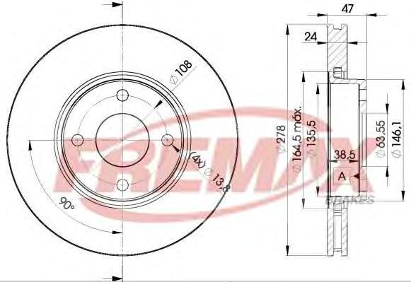 Диск тормозной Fremax, 2 шт. BD-6785BD-6785