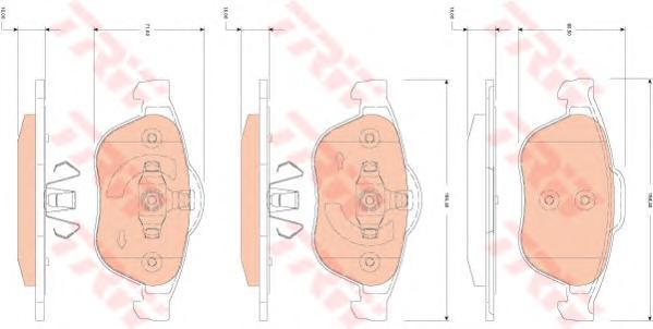 Колодки тормозные дисковые TRW. GDB1823GDB1823