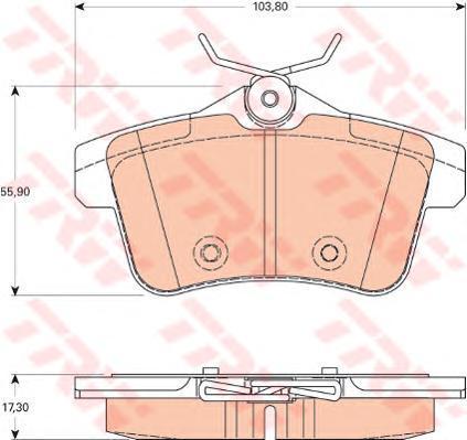 Колодки тормозные дисковые TRW. GDB1828GDB1828