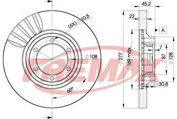 Диск тормозной Fremax, 2 шт. BD-7038BD-7038
