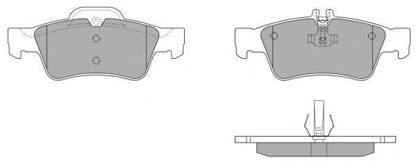 Колодки тормозные дисковые Fremax, комплект. FBP-1350FBP-1350