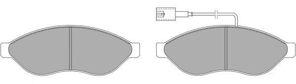 Колодки тормозные дисковые Fremax, комплект. FBP-1476FBP-1476