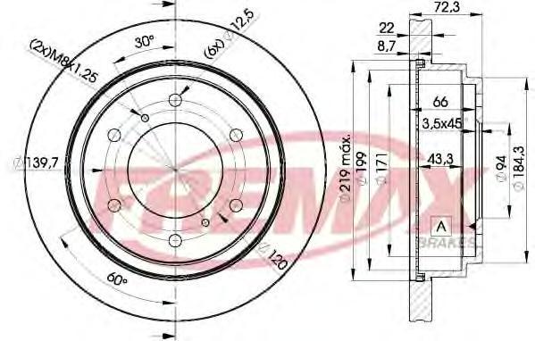 Диск тормозной Fremax. BD-8067BD-8067