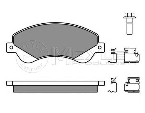 Колодки тормозные дисковые Meyle. 0252448518/W0252448518/W
