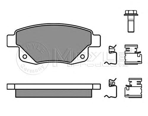 Колодки тормозные дисковые Meyle. 0252448617/W0252448617/W