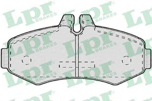 Колодки тормозные дисковые LPR / AP. 05P67205P672