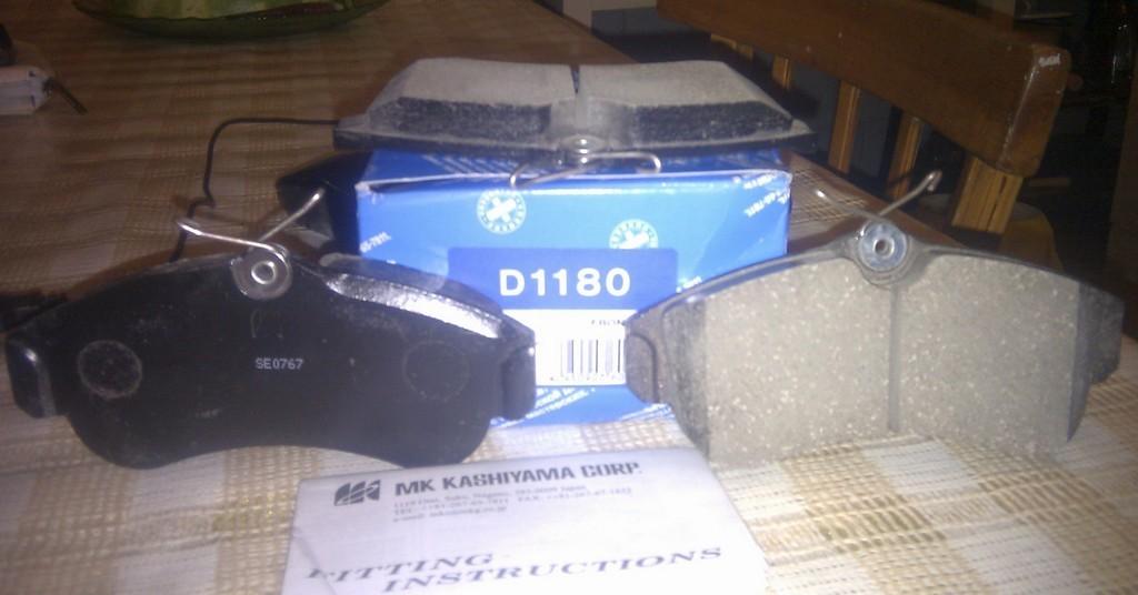 Колодки тормозные дисковые Kashiyama, передние. D1180D1180