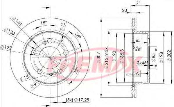 Диск тормозной Fremax, 2 шт. BD-8675BD-8675