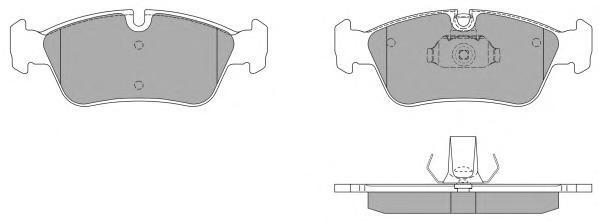 Колодки тормозные дисковые Fremax, комплект. FBP-0741FBP-0741