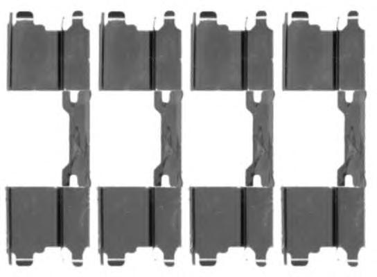 Комплект монтажный BEHR-HELLA, для тормозных колодок. 8DZ355203-5018DZ355203-501