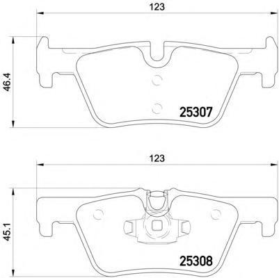 Колодки тормозные дисковые Textar, комплект. 25307012530701
