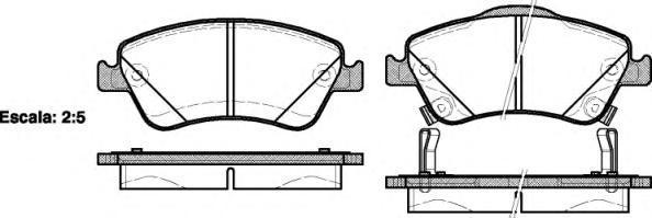 Колодки тормозные дисковые Remsa, комплект. 131002131002