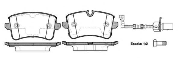 Колодки тормозные дисковые Remsa, комплект. 134320134320