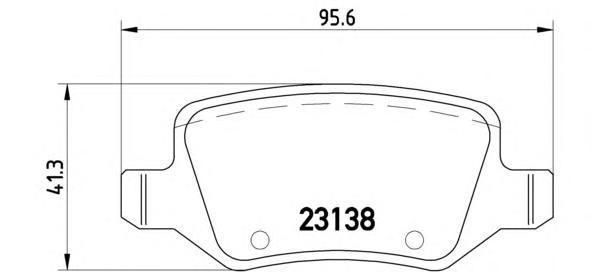 Колодки тормозные дисковые Brembo, задние. P50090P50090