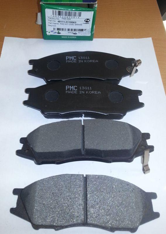 Колодки тормозные дисковые PMC, передние. PKE004PKE004