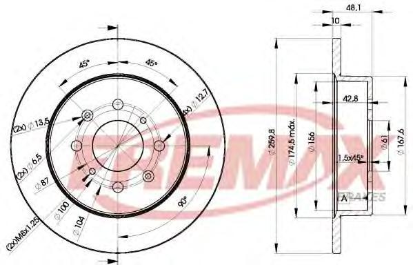 Диск тормозной Fremax, 2 шт. BD-5106BD-5106