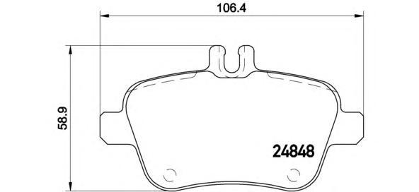 Колодки тормозные дисковые Brembo, задние. P50091P50091