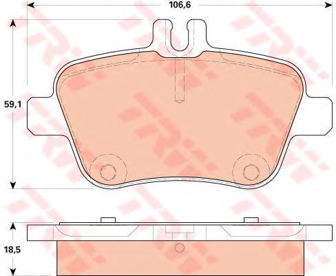 Колодки тормозные дисковые TRW, задние. GDB1920GDB1920
