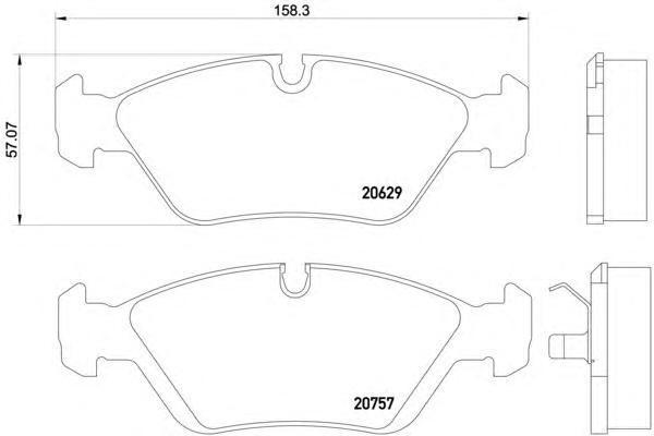 Колодки тормозные дисковые BEHR-HELLA, комплект. 8DB355006-5118DB355006-511
