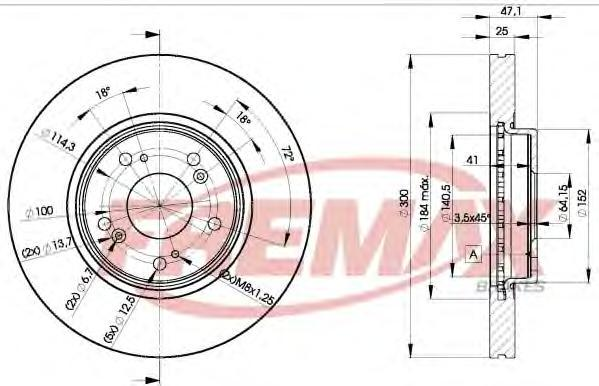Диск тормозной Fremax, 2 шт. BD-5251BD-5251
