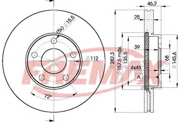 Диск тормозной Fremax, 2 шт. BD-5306BD-5306