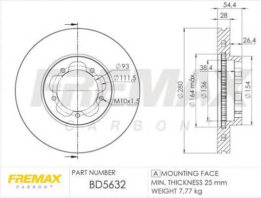Диск тормозной Fremax, 2 шт. BD-5632BD-5632