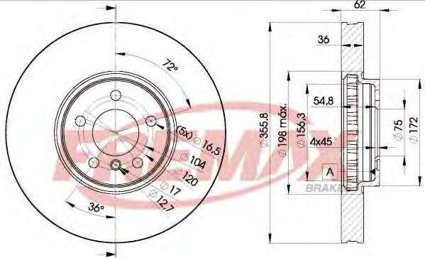 Диск тормозной Fremax. BD-5684BD-5684