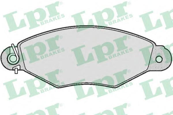 Колодки тормозные дисковые LPR / AP. 05P66105P661