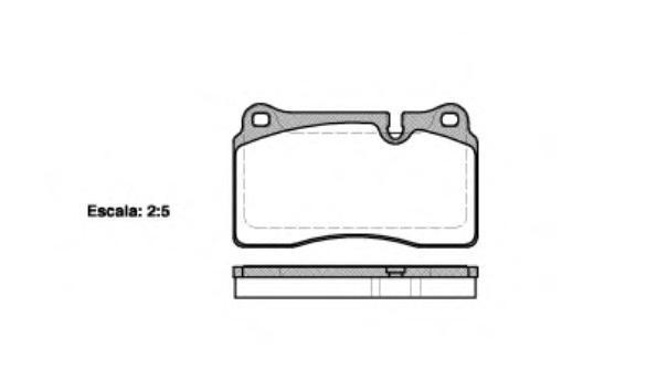 Колодки тормозные дисковые Remsa, комплект. 120010120010
