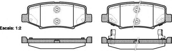 Колодки тормозные дисковые Remsa, комплект. 126402126402