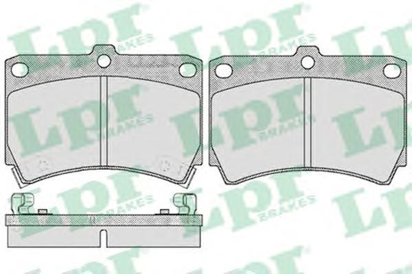 Колодки тормозные дисковые LPR / AP. 05P36605P366
