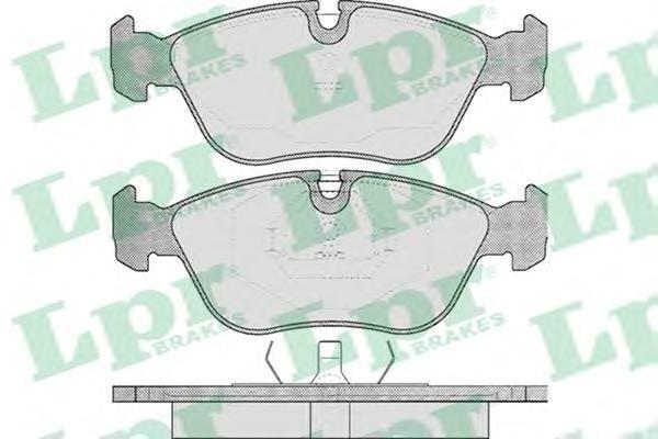 Колодки тормозные дисковые LPR / AP. 05P43605P436