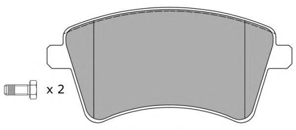 Колодки тормозные дисковые Fremax, комплект. FBP-1582FBP-1582