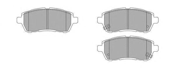 Колодки тормозные дисковые Fremax, комплект. FBP-1645FBP-1645