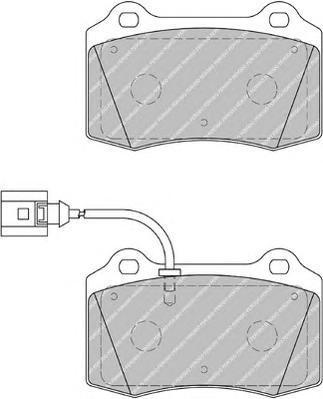 Колодки тормозные дисковые Ferodo, комплект. FDB1896FDB1896