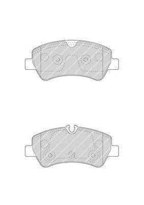 Колодки тормозные дисковые Ferodo, комплект. FVR4398FVR4398