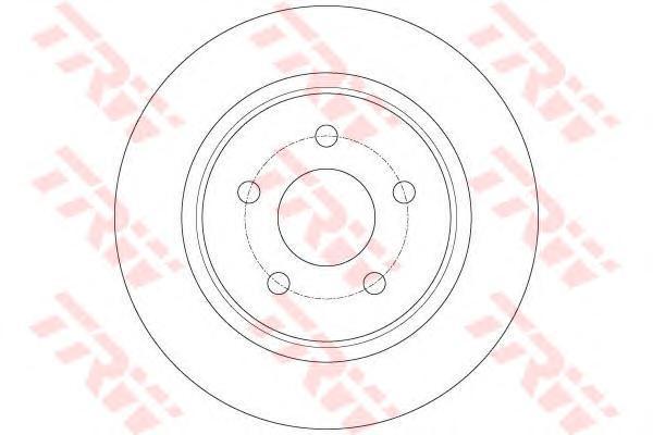 Диск тормозной Trw, задний, 2 шт. DF6150DF6150