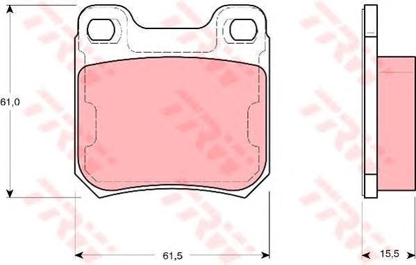 Колодки тормозные дисковые TRW. GDB1346GDB1346