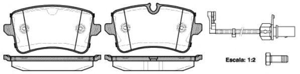 Колодки тормозные дисковые Remsa, комплект. 134310134310