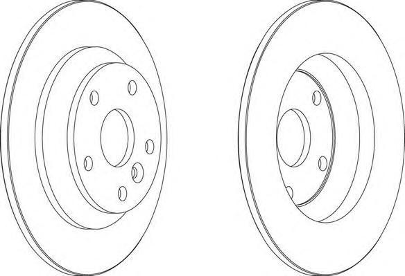 Диск тормозной Ferodo, задний, 2 шт. DDF1616DDF1616