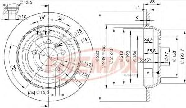 Диск тормозной Fremax, 2 шт. BD-3508BD-3508