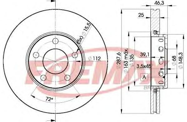 Диск тормозной Fremax, 2 шт. BD-4063BD-4063