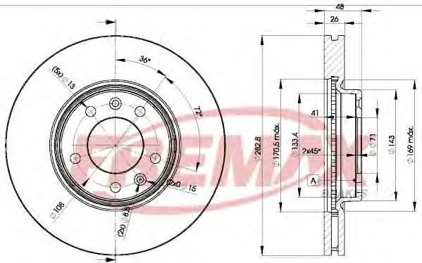 Диск тормозной Fremax, 2 шт. BD-4685BD-4685