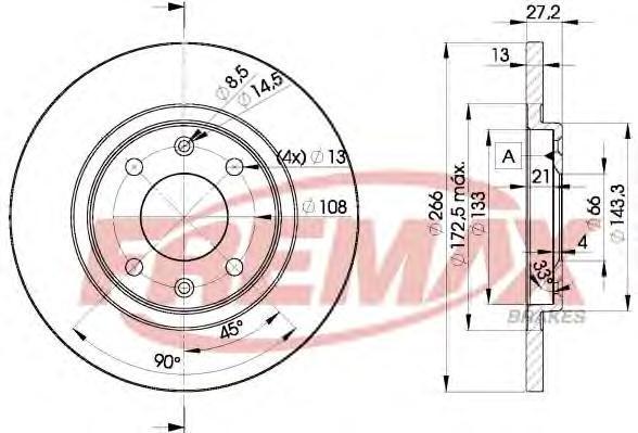 Диск тормозной Fremax, 2 шт. BD-4692BD-4692
