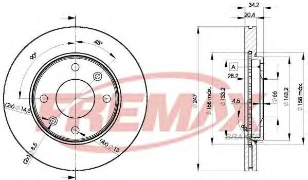Диск тормозной Fremax, 2 шт. BD-4694BD-4694