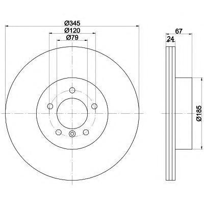 Диск тормозной Behr-Hella Pro. 8DD355110-0418DD355110-041