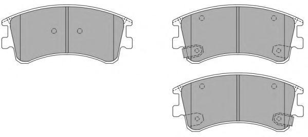 Колодки тормозные дисковые Fremax, комплект. FBP-1361FBP-1361